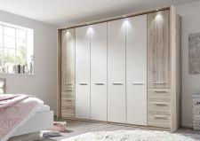 Ložnicový nábytek PORTO_ šatní skříň 6-ti dveřová s okrasným rámem a LED osvětlením_ obr. 3
