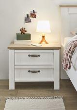 Ložnicový nábytek TRENTO_ noční stolek_ čelní pohled_ obr. 10