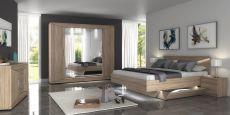 Ložnicová sestava DREAM II._ šatní skříň + postel se zásuvkami + 2x noční stolek_ komoda se zrcadlem_možnost volitelného LED osvětlení_bez matrací a roštů_obr. 1