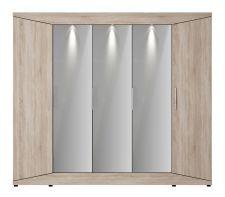 Šatní skříň DREAM II._možnost volitelného LED osvětlení_obr. 4