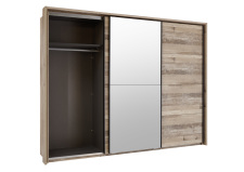 Šatní skříň s posuvnými dveřmi RIVER 58-591-U8 včetně okrasného rámu 58-593-U8_otevřená_obr. 12