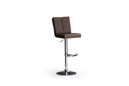 Barová židle MANTO_chromovaná podnož_kruh_hnědá_obr. 3