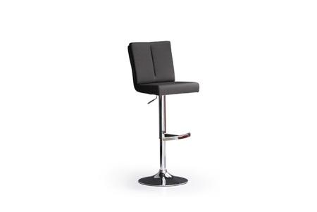 Barová židle MANTO_chromovaná podnož_kruh_černá_obr. 5
