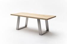 Jídelní stůl MAURO_dub přírodní_podnoží broušená nerez_obr. 11