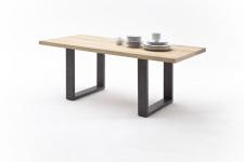 Jídelní stůl MAURO_dub přírodní_podnoží lak ANTIK antracit_obr. 15