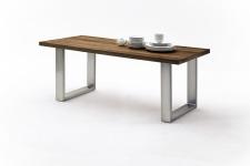 Jídelní stůl MAURO_dub schoko_podnoží broušená nerez_obr. 16