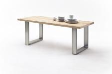 Jídelní stůl MAURO_dub přírodní_podnoží broušená nerez_obr. 17