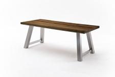 Jídelní stůl MAURO_dub schoko_podnoží broušená nerez_obr. 18