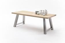 Jídelní stůl MAURO_dub přírodní_podnoží broušená nerez_obr. 19
