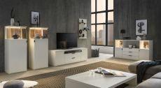 Obývací / jídelní nábytek MAURO_bílý matný lak_volná sestava elementů_obr. 2