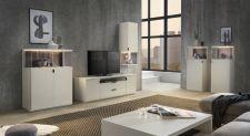 Obývací / jídelní nábytek MAURO_bílý matný lak_volná sestava elementů_obr. 3