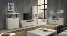Obývací / jídelní nábytek MAURO_bílý matný lak_volná sestava elementů_obr. 4