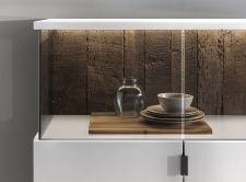 Obývací / jídelní nábytek MAURO_bílý matný lak_zadní viditelné plochy v provedení ALTHOLZ_detail_obr. 7