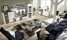 Obývací nábytek MESSINA_sestava 10 G4 WD 80 + sideboard typ 20 + konf. stůl typ 20 G4 WD 02 + jídelní stůl 20 G4 WD 01_obr. 2