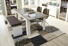 Jídelní stůl MESSINA_typ 20 G4 WD 01_rozložený na 200 cm_ + lavice 20 G4 WD 03_obr. 13
