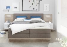 Boxspringová postel s příslušenstvím MIAMI_čelní pohled_obr. 3