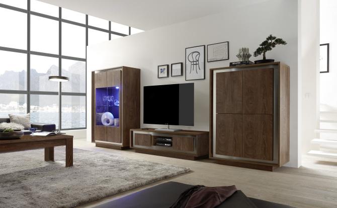Obývací sestava MONDE_vitrina_TV-element_highboard_obr. 1