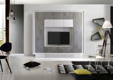 """Obývací stěna MONDE monolith 701793C_provedení bílý matný lak / """"beton"""" dekor_obr. 5"""
