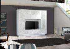Obývací stěna MONDE monolith 701793F_provedení bílý matný lak / bílý matný lak s květinovým tištěným motivem_obr. 11