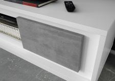 Obývací a jídelní nábytek MONDE_detail provedení_bílý matný lak-beton_obr. 31
