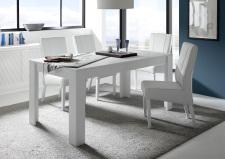 Jídelní stůl MONDE_bílý matný lak_obr. 4