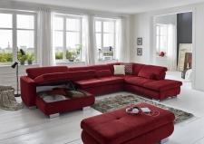 Látková sedací souprava MOVIE_v látce Nemo cherry_úložný prostor v kanape_obr. 18