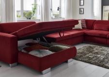 Látková sedací souprava MOVIE_v látce Nemo cherry_detail úložného prostoru v kanapi_obr. 24