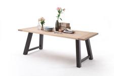 Jídelní stůl MULTI TABLE_dub bělený_podnož lak ANTIK antracit_obr. 17