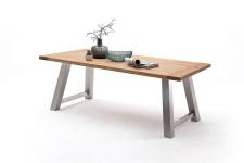 Jídelní stůl MULTI TABLE_dub divoký_podnož nerez broušená_obr. 18