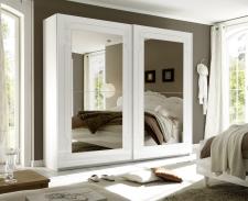 Šatní skříň s posuvnými dveřmi MUSA_šířka 240 cm_sítotisk_zrcadla