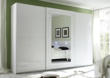 Šatní skříň s posuvnými dveřmi MUSA_šířka 314 cm_sítotisk_1 dveře se zrcadlem
