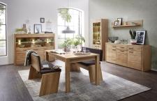 Obývací / jídelní program NATURE TWO_typy 22+03+22+40+jídelní stůl 29 26 H1 01 + 2x jídelní lavice 29 26 H1 03_obr. 3