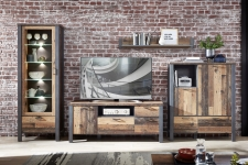 Obývací a jídelní nábytek CARTAGO _sestava  10 G3 VV 80_ čelní pohled_ obr. 4