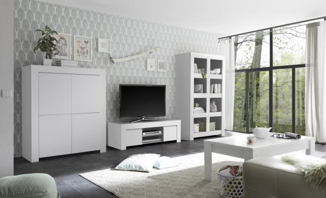 Obývacie a jedálenské zostavy CASTELLO biely lak