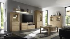 Obývací nábytek DENVER_sestava 982_highboard 870_konferenční stůl T64_dub bianco masiv
