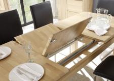 Jídelní stůl DENVER_typ T71_detail mechanismu_dub bianco masiv