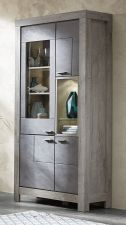 Obývací a jídelní nábytek GRACE _ vitrína  40 54 3T 02_  šikmý pohled_  obr. 11