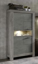 Obývací a jídelní nábytek GRACE _ skříňka úzká  40 54 3T 07_  šikmý pohled_  obr. 15