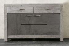 Obývací a jídelní nábytek GRACE _ sideboard malý  40 54 3T 20_  čelní pohled_  obr. 17