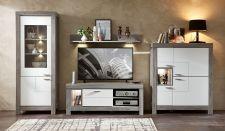 Obývací a jídelní nábytek GRACE white _  obývací sestava 40 54 3W 89_ čelní pohled_ obr. 8