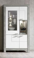 Obývací a jídelní nábytek GRACE white _ vitrína 40 54 3W 02_  čelní pohled_ obr. 11