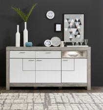 Obývací a jídelní nábytek GRACE white _ sideboard velký 40 54 3W 21_  čelní pohled_ obr. 17