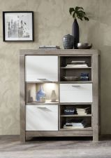 Obývací a jídelní nábytek GRACE white _ regál 40 54 3W 24_  čelní pohled_ obr. 19