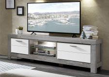 Obývací a jídelní nábytek GRACE white _ TV - spodní díl 40 54 3W 32_  šikmý pohled_ obr. 21