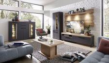 Obývací a jídelní nábytek LAMIA graphite _sestava 10 J4 GH 81 + highboard 22 + konf. stůl 20 J4 GH 02 _obr. 3