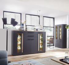 Obývací a jídelní nábytek LAMIA graphite _highboard 10 J4 GH 22 _obr. 8