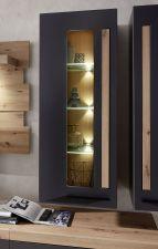 Obývací a jídelní nábytek LAMIA graphite _závěsná vitrina_ detail_obr. 12