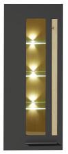 Závěsná vitrina LAMIA graphite 10 J4 GH 10 _ čelní pohled_ obr. 20