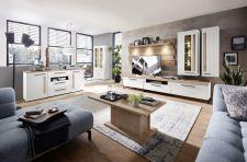Obývací a jídelní nábytek LAMIA white _sestava 10 J4 WH 80 + sideboard 20 + konf. stůl 20 J4 WH 02 _obr. 2