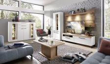 Obývací a jídelní nábytek LAMIA white _sestava 10 J4 WH 81 + highboard 22 + konf. stůl 20 J4 WH 02 _obr. 3